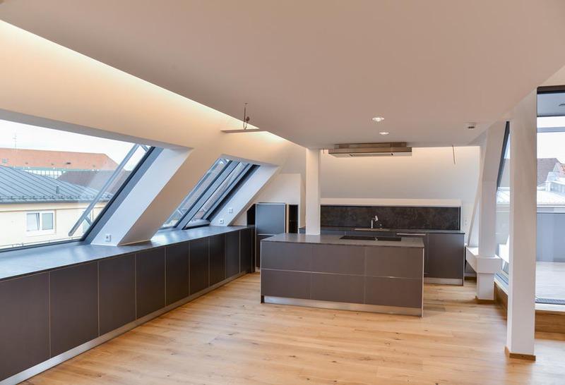 gerhard meininghaus architekt in m nchen dachgeschoss wohnung. Black Bedroom Furniture Sets. Home Design Ideas