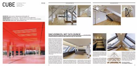 """Screenshot der Veröffentlichung im """"CUBE Magazin für Architektur"""""""
