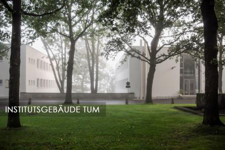 Energetisch sanierte Institutsgebäude - Außenaufnahme